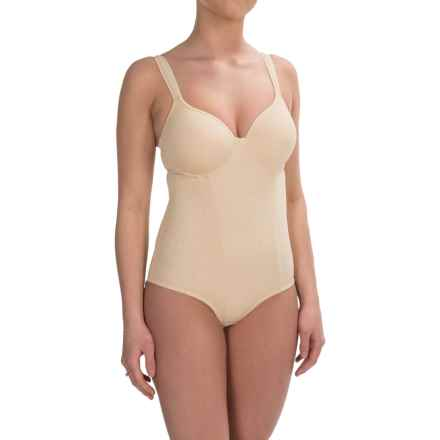 Joan Vass Medium-Compression Shapewear Bodysuit - Molded Cups (For Women) in Nude - Closeouts