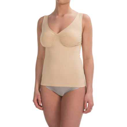 Joan Vass Medium-Compression Shapewear Tank Top - Soft Cups (For Women) in Nude - Closeouts