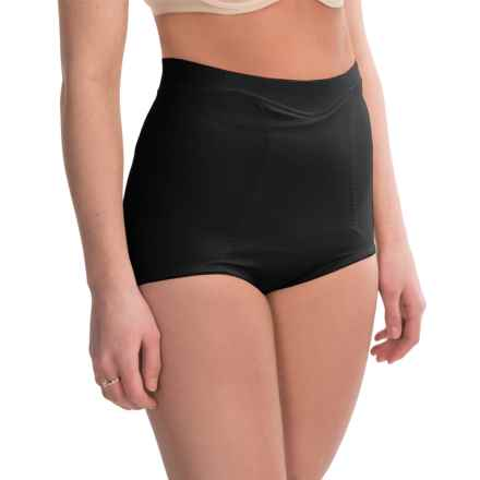 Joan Vass Mid-Waisted Shapewear Briefs (For Women) in Black - Closeouts