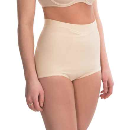Joan Vass Mid-Waisted Shapewear Briefs (For Women) in Nude - Closeouts