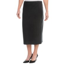 Joan Vass Milano Long Cotton Skirt (For Women) in Black - Closeouts