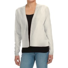 Joan Vass Open Front Cardigan Sweater (For Women) in White - Closeouts