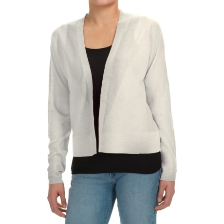 Joan Vass Open Front Cardigan Sweater (For Women)