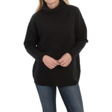 Joan Vass Oversized Hooded Sweater - Dolman Sleeve (For Women) in Black - Closeouts