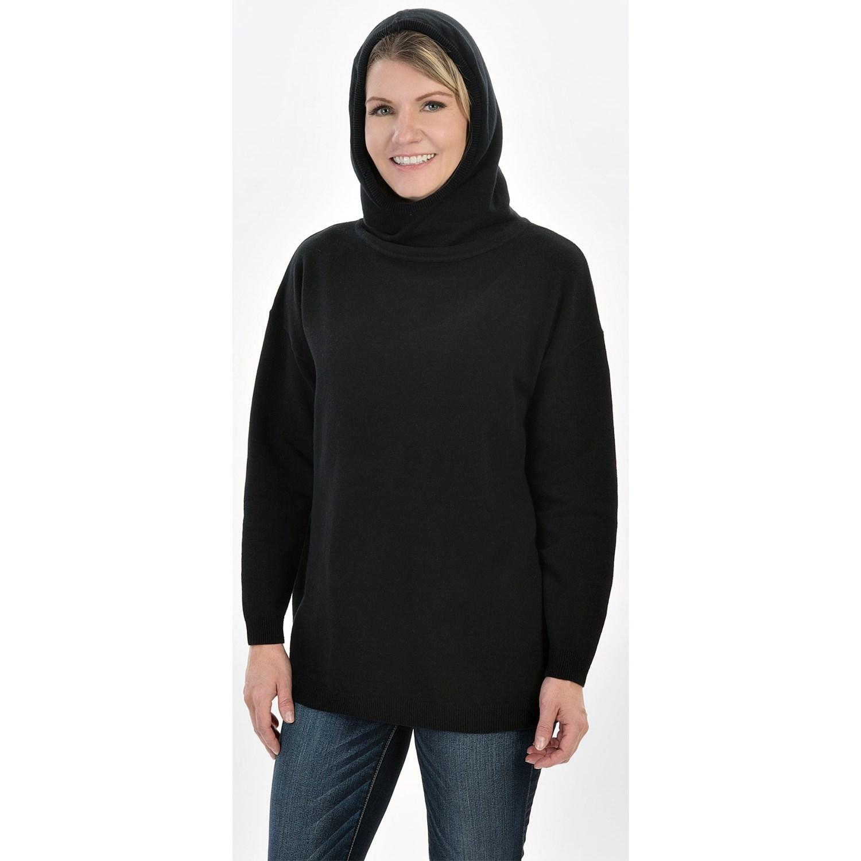 Joan Vass Oversized Hooded Sweater (For Women)