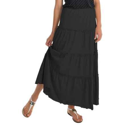 Joan Vass Peasant Skirt (For Women) in Black - Overstock