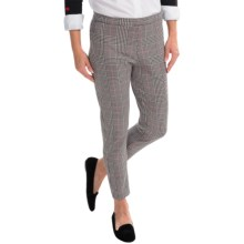 Joan Vass Plaid Pull-On Pants (For Women) in Plaid - Closeouts