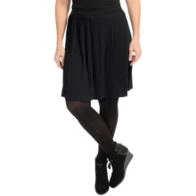 Joan Vass Pleated Skirt (For Women) in Black - Closeouts