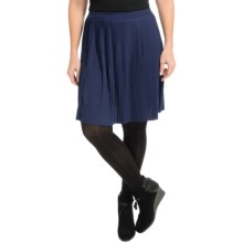 Joan Vass Pleated Skirt (For Women) in Midnight - Closeouts