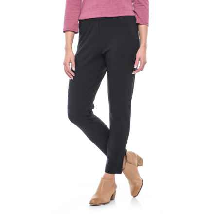 Joan Vass Ponte Ankle Pants (For Women) in Black - Closeouts