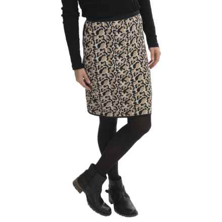 Joan Vass Printed Cotton Skirt (For Women) in Leopard - Closeouts