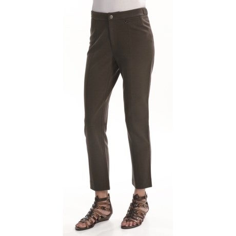 Joan Vass Seamed Ankle Pants (For Women) in Mocha