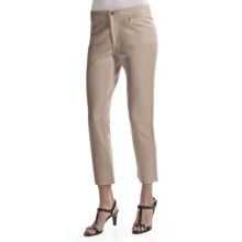 Joan Vass Seamed Ankle Pants (For Women) in Sable - Closeouts