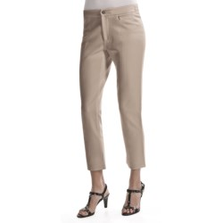 Joan Vass Seamed Ankle Pants (For Women) in Sable