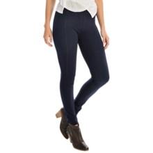 Joan Vass Seamed Leggings - Slim Fit (For Women) in Indigo - Overstock