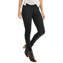 Joan Vass Seamed Leggings - Slim Fit (For Women) in Pitch Black - Overstock