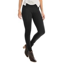 Joan Vass Seamed Leggings - Slim Fit (For Women) in Pitch Black - Overstock