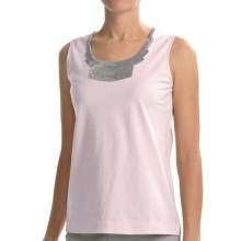 Joan Vass Sequin Necklace Tank Top (For Women) in Pink Quartz - Closeouts
