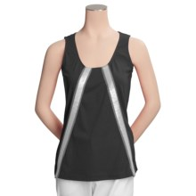 Joan Vass Sequin-Trimmed Tank Top (For Women) in Black - Closeouts