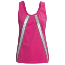 Joan Vass Sequin-Trimmed Tank Top (For Women) in Fuschia - Closeouts