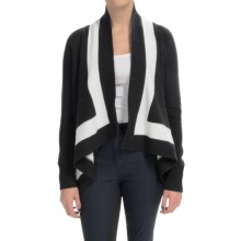 Joan Vass Shawl Collar Cardigan Sweater (For Women) in Black - Closeouts