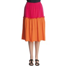 Joan Vass Short Ruffle Skirt (For Women) in Tangerine - Closeouts