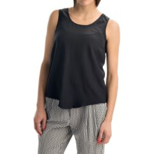 Joan Vass Silk Tank Top (For Women) in Black - Closeouts