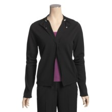 Joan Vass Single-Button Short Jacket (For Women) in Black - Closeouts