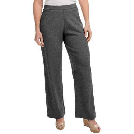 Joan Vass Stretch Interlock Full-Length Pants (For Women) in Cinder Heather - Closeouts