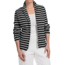 Joan Vass Striped Two-Button Jacket (For Women) in Black/White - Closeouts