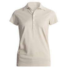 Joan Vass Studio Cotton Pique Polo Shirt - Short Sleeve (For Women) in Cream - Closeouts