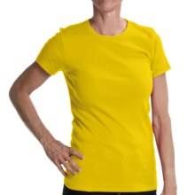 Joan Vass Studio Shirt - Ribbed Cotton, Short Sleeve (For Women) in Yellow - Closeouts