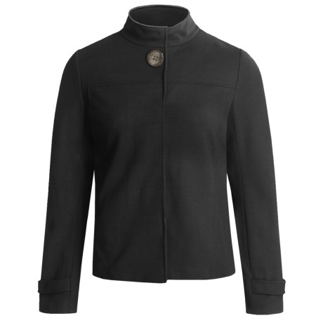Joan Vass Swing Jacket - Stretch Rayon Knit (For Women) in Black
