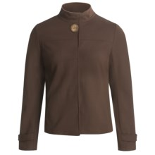 Joan Vass Swing Jacket - Stretch Rayon Knit (For Women) in Cocoa - Closeouts
