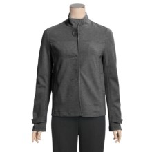 Joan Vass Swing Knit Jacket (For Women) in Dark Grey Heather - Closeouts