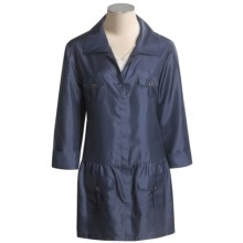 Joan Vass Taffetta Jacket - Drop Waist (For Women) in Ink - Closeouts