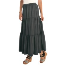 Joan Vass Tiered Long Skirt (For Women) in Black - Overstock
