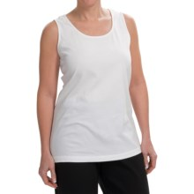 Joan Vass Tunic-Length Cotton Tank Top (For Women) in White - Closeouts