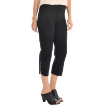 Joan Vass Zip Capris (For Women) in Black - Overstock