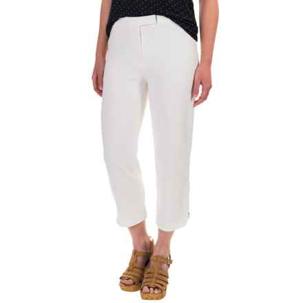 Joan Vass Zip Capris (For Women) in Bright White - Overstock