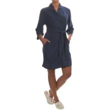 Jockey Bohemian Garden Terry Wrap Robe - 3/4 Sleeve (For Women) in Midnight Blue - Overstock