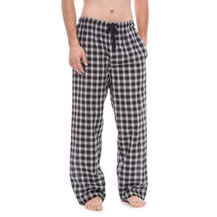 Jockey Broadcloth Plaid Pajama Pants (For Men) in Black Plaid - Closeouts