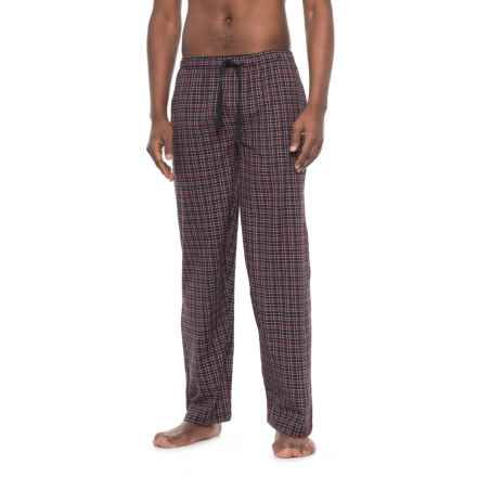 Jockey Broadcloth Plaid Pajama Pants (For Men) in Burgundy Plaid - Closeouts