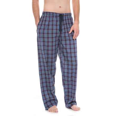 Jockey Broadcloth Plaid Pajama Pants (For Men) in Navy Plaid - Closeouts