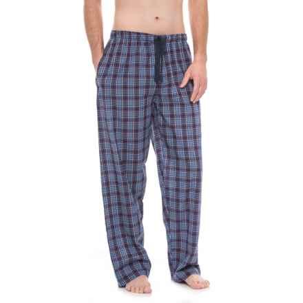 Jockey Broadcloth Plaid Pajama Pants (For Men) in Navy Plaid - Closeouts