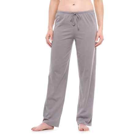 Jockey Drawstring Lounge Pants (For Women) in Light Grey - Closeouts