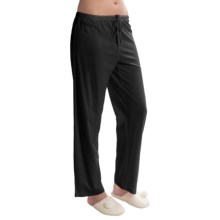 Jockey Jersey Knit Lounge Pants (For Women) in Black - Closeouts