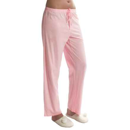 Jockey Jersey Knit Lounge Pants (For Women) in Pink - Closeouts