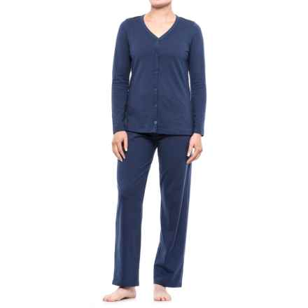 Jockey Jersey Pajamas - Long Sleeve (For Women) in Medium Blue - Closeouts