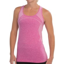 Jockey Linear Melange Seamless Tank Top (For Women) in Cbyer Rose - Closeouts